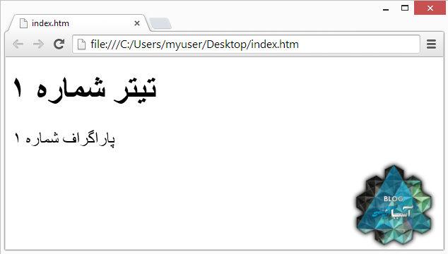نحوه نمایش سند HTML در مرورگر