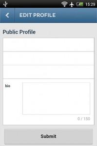 تغییرات عمومی پروفایل